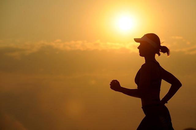 běh při východu slunce