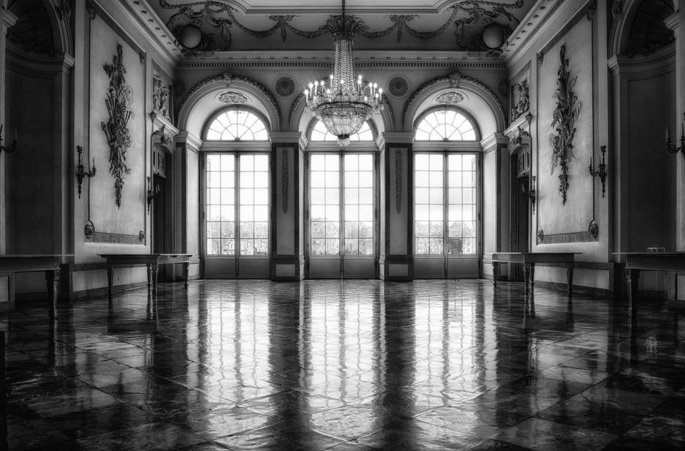 interiér, okná, sklá